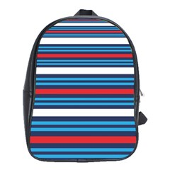 Martini Style Racing Tape Blue Red White School Bags (xl)  by Mariart