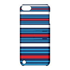 Martini Style Racing Tape Blue Red White Apple Ipod Touch 5 Hardshell Case With Stand