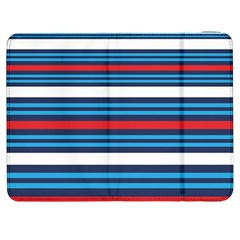Martini Style Racing Tape Blue Red White Samsung Galaxy Tab 7  P1000 Flip Case by Mariart