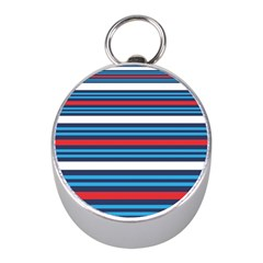 Martini Style Racing Tape Blue Red White Mini Silver Compasses by Mariart