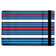 Martini Style Racing Tape Blue Red White Ipad Air Flip by Mariart