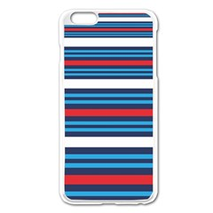 Martini Style Racing Tape Blue Red White Apple Iphone 6 Plus/6s Plus Enamel White Case by Mariart