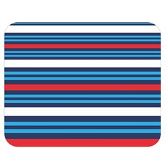 Martini Style Racing Tape Blue Red White Double Sided Flano Blanket (medium)  by Mariart