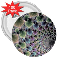 Beautiful Image Fractal Vortex 3  Buttons (100 Pack)  by Simbadda