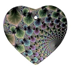 Beautiful Image Fractal Vortex Heart Ornament (two Sides) by Simbadda