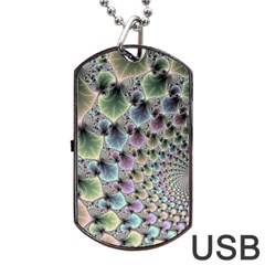 Beautiful Image Fractal Vortex Dog Tag Usb Flash (one Side) by Simbadda