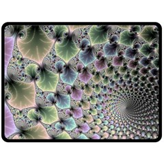 Beautiful Image Fractal Vortex Double Sided Fleece Blanket (large)  by Simbadda
