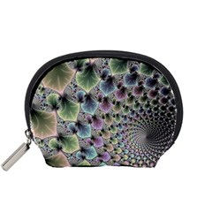 Beautiful Image Fractal Vortex Accessory Pouches (small)  by Simbadda