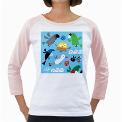 New Zealand Birds Close Fly Animals Girly Raglans
