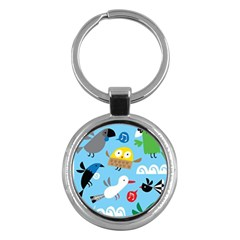 New Zealand Birds Close Fly Animals Key Chains (round)  by Mariart