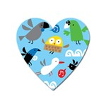 New Zealand Birds Close Fly Animals Heart Magnet Front