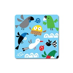 New Zealand Birds Close Fly Animals Square Magnet by Mariart