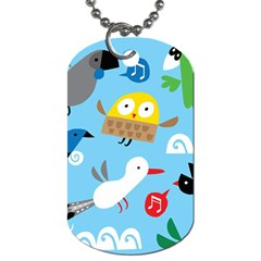 New Zealand Birds Close Fly Animals Dog Tag (one Side) by Mariart