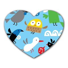 New Zealand Birds Close Fly Animals Heart Mousepads by Mariart