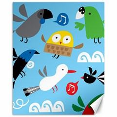 New Zealand Birds Close Fly Animals Canvas 11  X 14   by Mariart