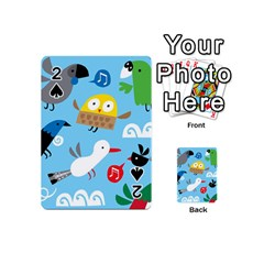 New Zealand Birds Close Fly Animals Playing Cards 54 (mini)  by Mariart