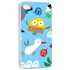 New Zealand Birds Close Fly Animals Apple Iphone 4/4s Seamless Case (white) by Mariart