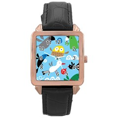 New Zealand Birds Close Fly Animals Rose Gold Leather Watch  by Mariart