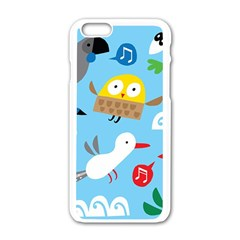 New Zealand Birds Close Fly Animals Apple Iphone 6/6s White Enamel Case by Mariart