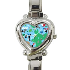 New Zealand Birds Detail Animals Fly Heart Italian Charm Watch by Mariart