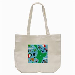 New Zealand Birds Detail Animals Fly Tote Bag (cream) by Mariart