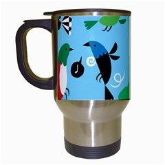 New Zealand Birds Detail Animals Fly Travel Mugs (white) by Mariart