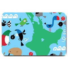 New Zealand Birds Detail Animals Fly Large Doormat  by Mariart