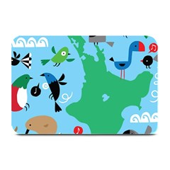 New Zealand Birds Detail Animals Fly Plate Mats by Mariart