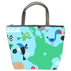 New Zealand Birds Detail Animals Fly Bucket Bags by Mariart