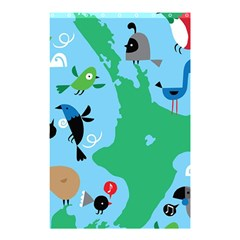 New Zealand Birds Detail Animals Fly Shower Curtain 48  X 72  (small)  by Mariart