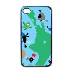 New Zealand Birds Detail Animals Fly Apple Iphone 4 Case (black) by Mariart