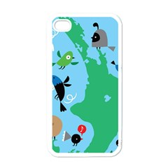 New Zealand Birds Detail Animals Fly Apple Iphone 4 Case (white) by Mariart