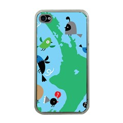 New Zealand Birds Detail Animals Fly Apple Iphone 4 Case (clear) by Mariart