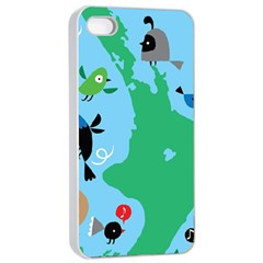 New Zealand Birds Detail Animals Fly Apple Iphone 4/4s Seamless Case (white) by Mariart