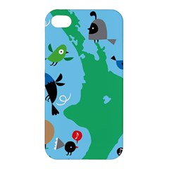 New Zealand Birds Detail Animals Fly Apple Iphone 4/4s Premium Hardshell Case by Mariart