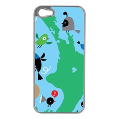 New Zealand Birds Detail Animals Fly Apple Iphone 5 Case (silver) by Mariart