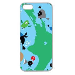 New Zealand Birds Detail Animals Fly Apple Seamless Iphone 5 Case (clear) by Mariart