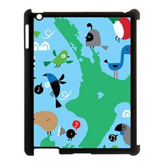 New Zealand Birds Detail Animals Fly Apple Ipad 3/4 Case (black) by Mariart