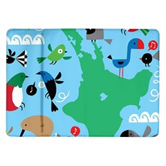 New Zealand Birds Detail Animals Fly Samsung Galaxy Tab 10 1  P7500 Flip Case by Mariart