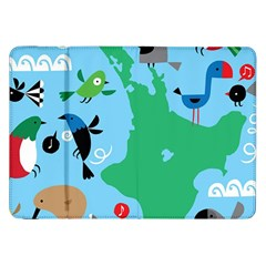 New Zealand Birds Detail Animals Fly Samsung Galaxy Tab 8 9  P7300 Flip Case by Mariart