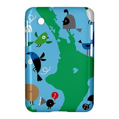 New Zealand Birds Detail Animals Fly Samsung Galaxy Tab 2 (7 ) P3100 Hardshell Case  by Mariart