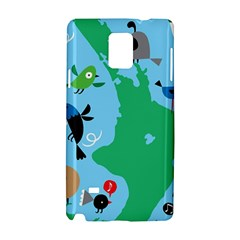 New Zealand Birds Detail Animals Fly Samsung Galaxy Note 4 Hardshell Case by Mariart