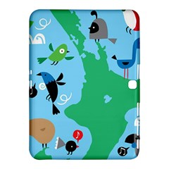 New Zealand Birds Detail Animals Fly Samsung Galaxy Tab 4 (10 1 ) Hardshell Case  by Mariart