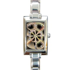 Background With Fractal Crazy Wheel Rectangle Italian Charm Watch by Simbadda