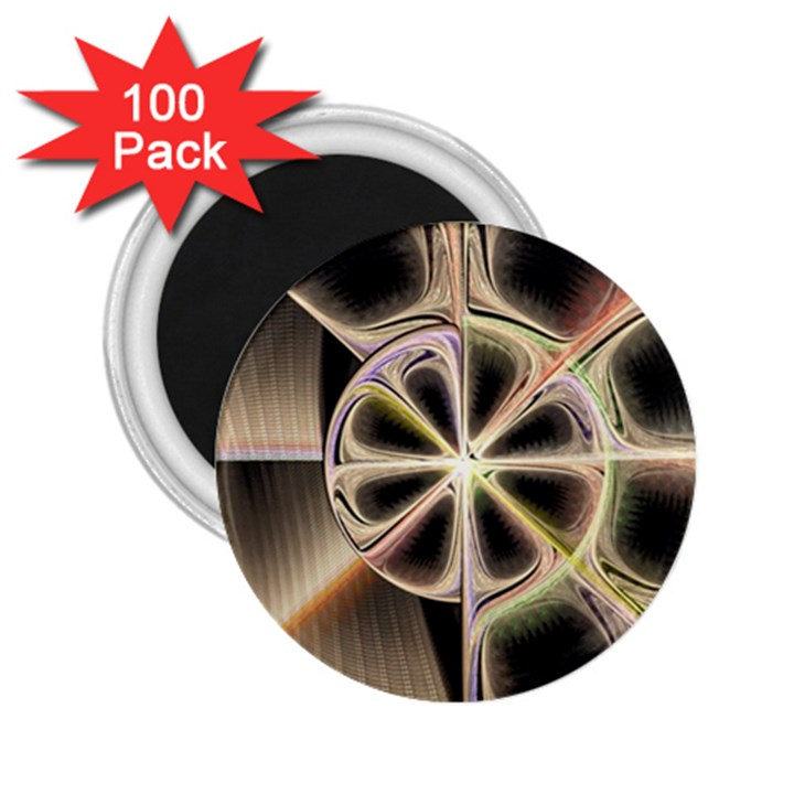 Background With Fractal Crazy Wheel 2.25  Magnets (100 pack)