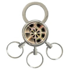 Background With Fractal Crazy Wheel 3 Ring Key Chains