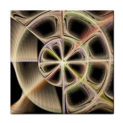 Background With Fractal Crazy Wheel Face Towel by Simbadda