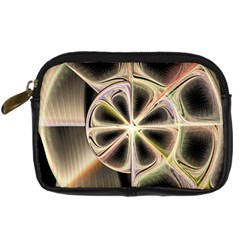 Background With Fractal Crazy Wheel Digital Camera Cases by Simbadda