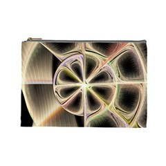 Background With Fractal Crazy Wheel Cosmetic Bag (large)