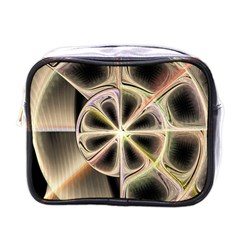 Background With Fractal Crazy Wheel Mini Toiletries Bags by Simbadda